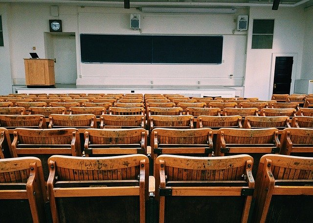 empty university lecture hall college