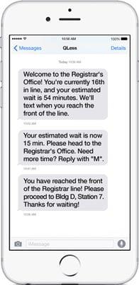 Qless mobile patient management system